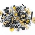 Механический конструктор Moc Technic, набор деталей для сборки колес, с перекрестной передачей, «сделай сам»