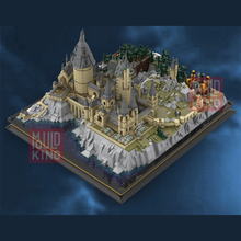 MOC Movie Series The Magic Castle School of wizardry Model Kit Building Blocks Toys For Children Compatible with 16060 Bricks