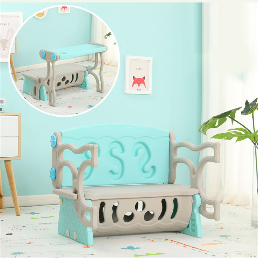 Plastic Children Table And Chair Kindergarten Kids Study Table Portable Folding Household Table Chair Set With Toy Storage Box