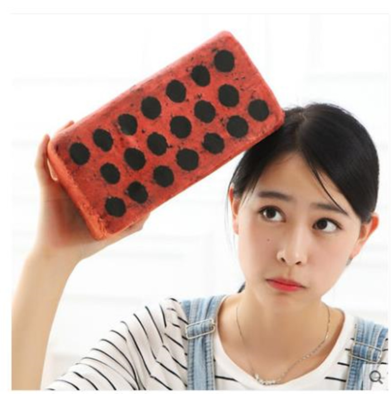 Creative Simulation Brick Pillow Plush Wood Wooden Stick Pillow Decompression Vent Fool's Day Doll Toy