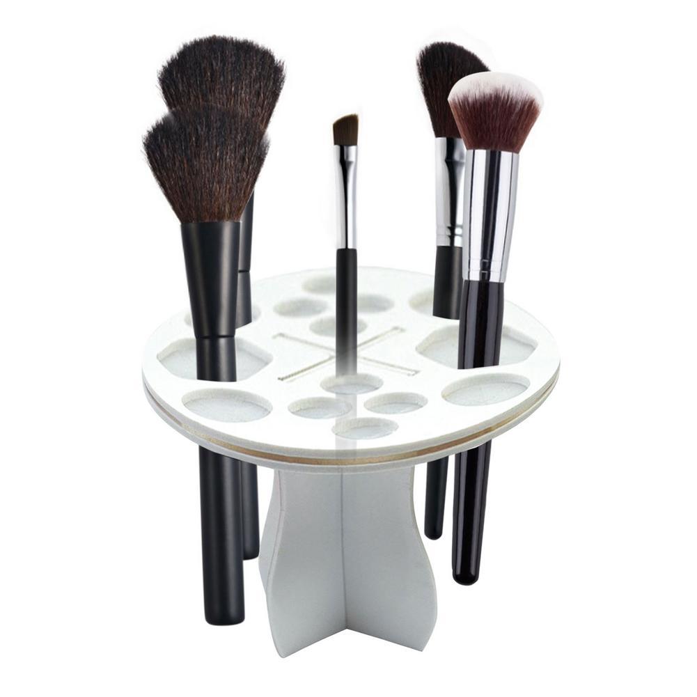 novo 14 buraco escova de maquiagem titular rack de cosmeticos maquiagem escova de secagem suporte organizador
