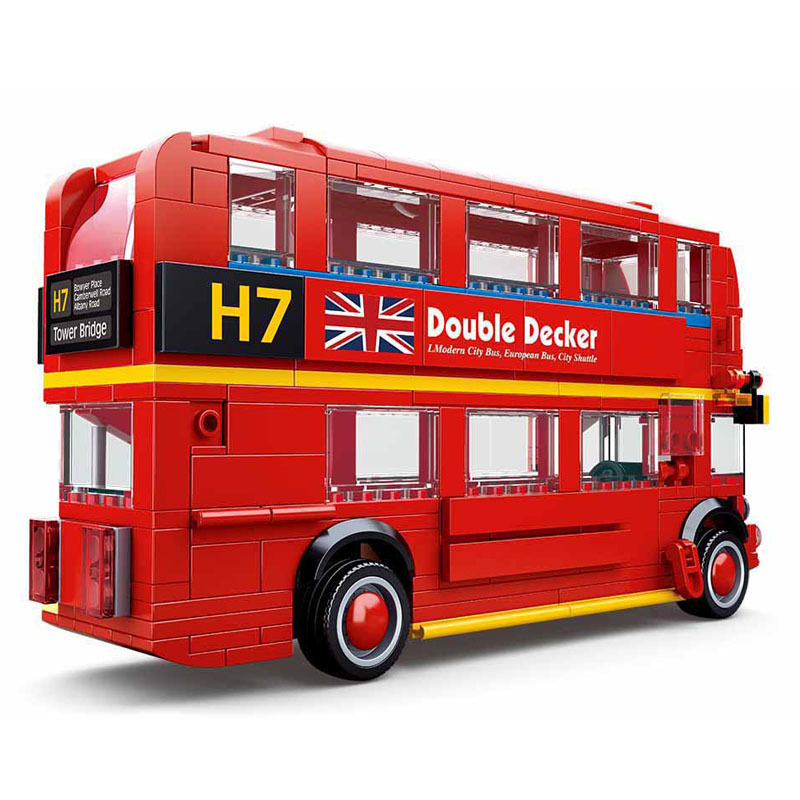 21045 Technic MOC Car Series DIY Creator City Classic London Double Decker Bus Building Blocks Model Car Toys For Children Gifts(China)