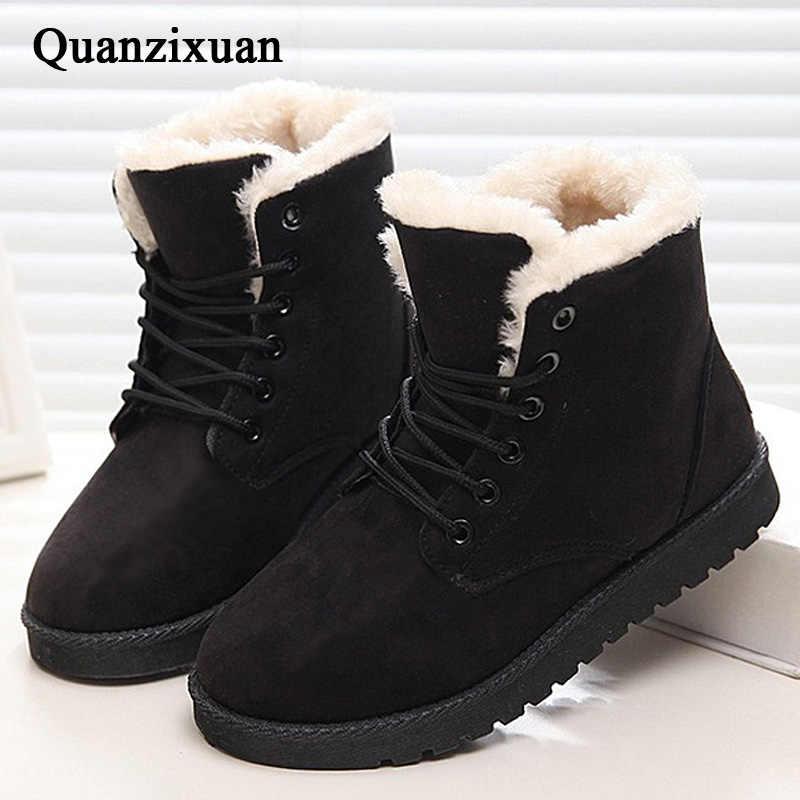 Plus Kích Thước 43 Nữ Khởi Động Nóng Tuyết Boot Nữ Mùa Đông Giày Nữ Giày Nữ Mùa Đông Lông Ấm Áp Mắt Cá Chân Giày Cho Nữ giày Botas Mujer