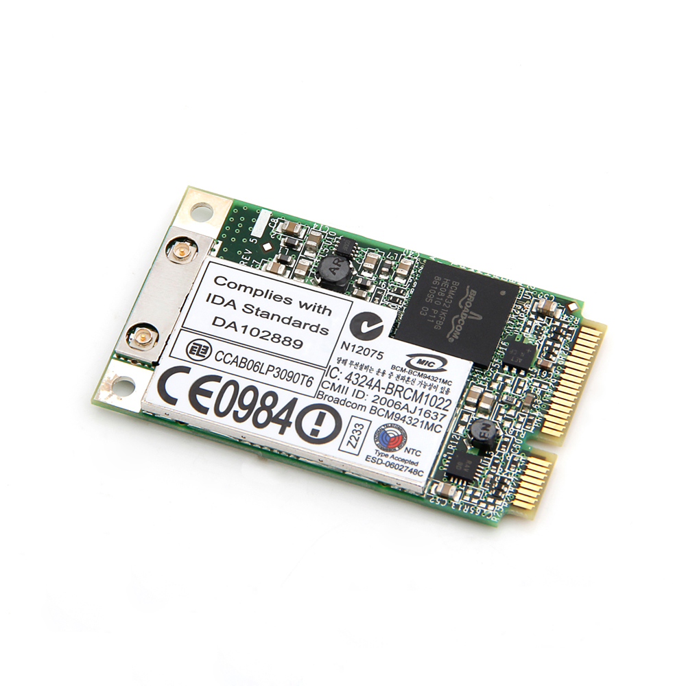 Wireless-N 300Mbps Broadcom BCM94321MC BCM94321 BCM4321 2.4G/5G 802.11a/g/n  Full Mini PCI-E WLAN Wifi Network Card