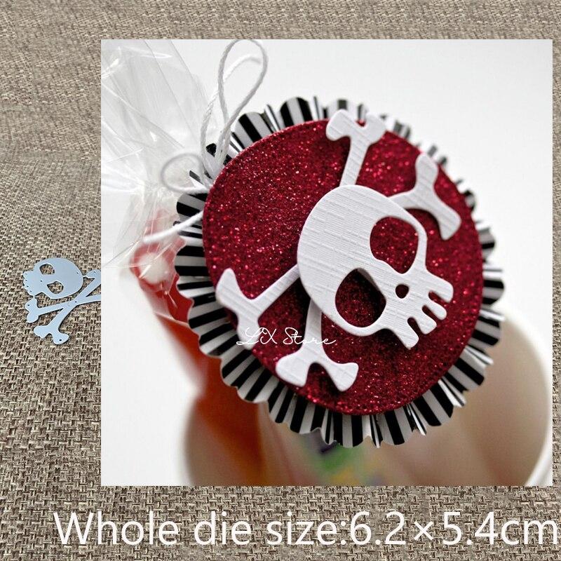 Новый дизайн, металлические высечки для рукоделия, высечки, украшение для костей черепа, для скрапбукинга, альбома, бумажных карточек, высеч...