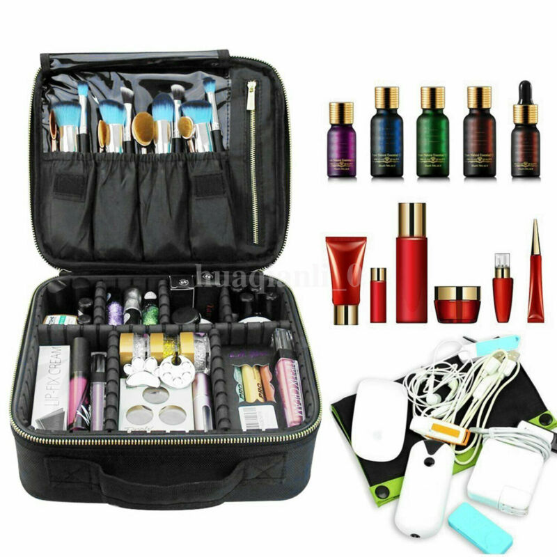 Professional Large Make Up Bag Vanity Case Cosmetic Nail Tech Storage Beauty Box Clapboard Cosmetic Bag Portable Manicure Kit