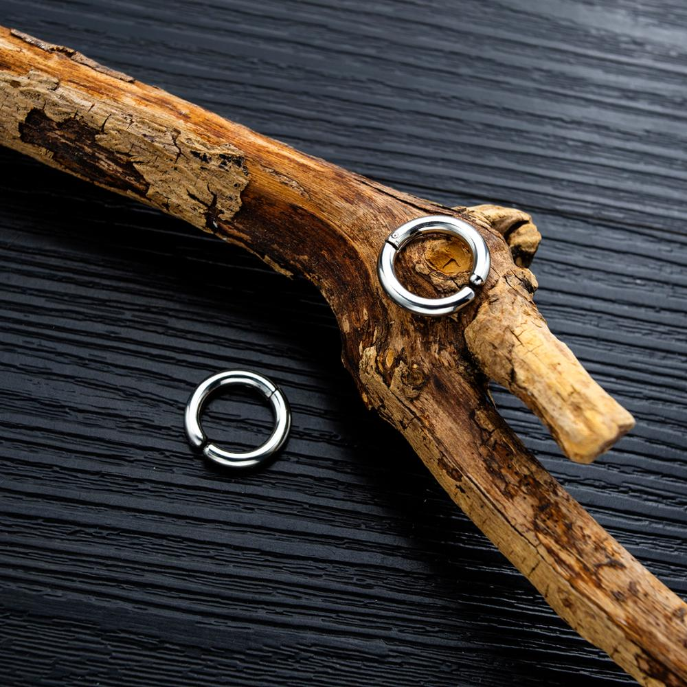 Simple Punk Stainless Steel Round Hoop Earrings For Women Man Party Ear Jewelry Gift Drop Shipping in Hoop Earrings from Jewelry Accessories