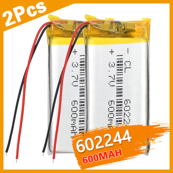 2PCS Polymer Battery 3.7V 600mah  602244 Smart Home MP3 Speakers Li-ion Battery for DVD,GPS,MP3,MP4,MP5 Cell Phone,Speaker недорого