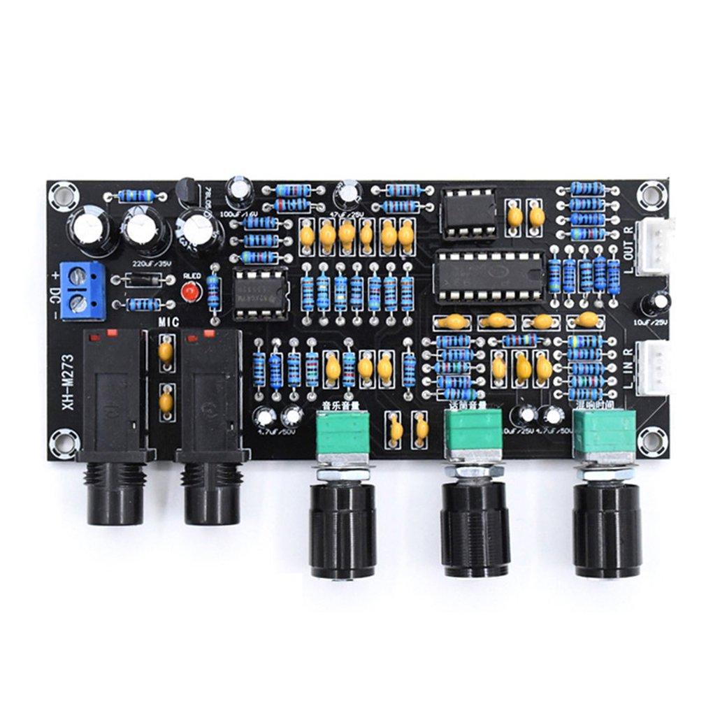 XH-M273 PT2399 Digital Microphone Amplifiers Board Reverberation Karaoke Reverb NE5532 Pre-amplifier Tone Board