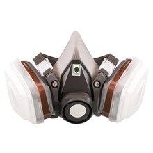 7 em 1 laboratórios máscara de gás químico terno de pulverização protetora respirador reutilizável industrial para 6200 pintura meia face segurança