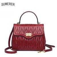 SUWERER 2020 New Genuine Leather Women bag fashion luxury handbags women bags designer bags handbag women famous brands tote bag