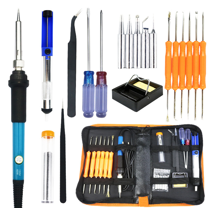 936 Constant Temperature Internal Heating Electric Soldering Iron 60w Thermostat 110v Euro 220V Soldering Iron Kit Package Price