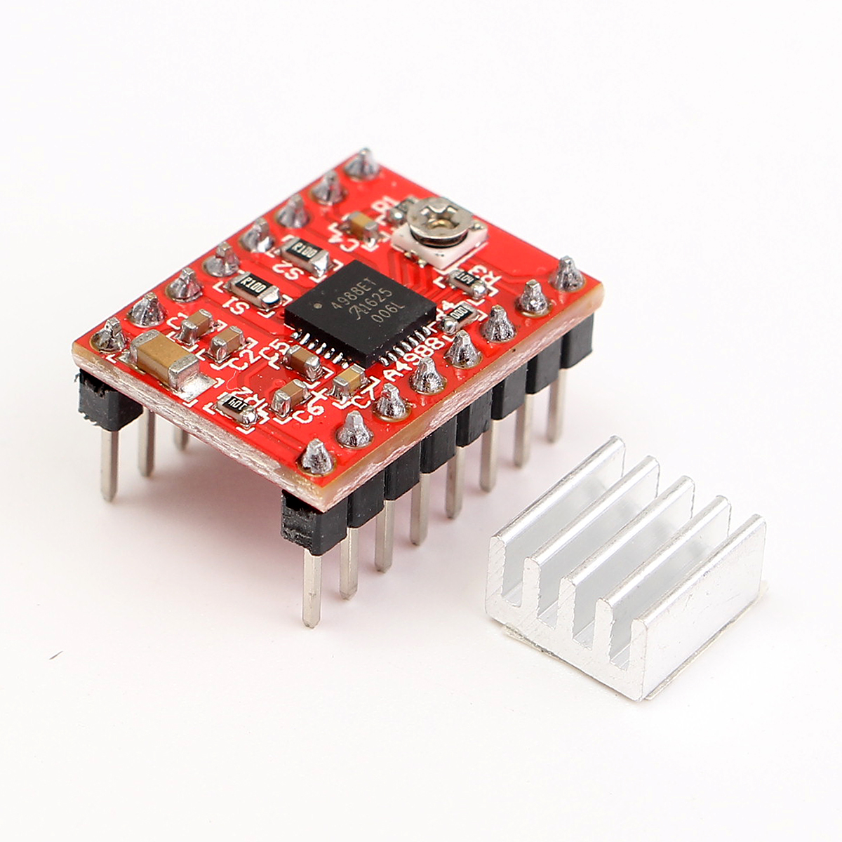 5pcs A4988 StepStick Stepper Driver + Heat sink For Reprap 3D Printer Parts Red Stepper Motor Driver