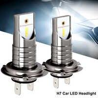 2PCS LED Xenon H7 Auto Scheinwerfer Lampe 12V 55W 6000K 12000LM Auto Lichter High Power für led Xenon Auto Scheinwerfer Kit Auto Styling