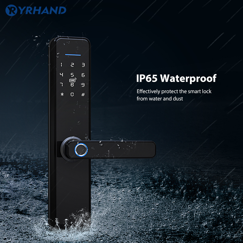 Biometric Fingerprint Lock Waterproof Tuya Smart Digital Lock Wifi Password App Smart Electronic Lock Security Home Keyless Lock