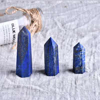 1PC Natural Crystal Lapis Hexagonal Column Crystal Point Mineral Ornament Magic Repair Home Furnishing DIY Gift Decoration