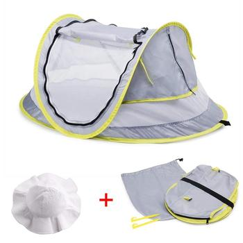 Baby Beach Tent Brim Sun Protection Hat Portable Baby Travel Tent Infant Sun Shelters Pop Up Folding Outdoor Bed Baby Shade outdoor beach tents shelters shade uv protection ultralight tent for fishing picnic park