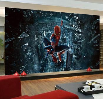 Custom mural wallpaper 3D large mural spiderman Batman Iron Man wallpaper mural children's room background cartoon wallpaper custom 3d mural children room wallpaper bedroom background wall mural cartoon candy cake shop wallpaper mural