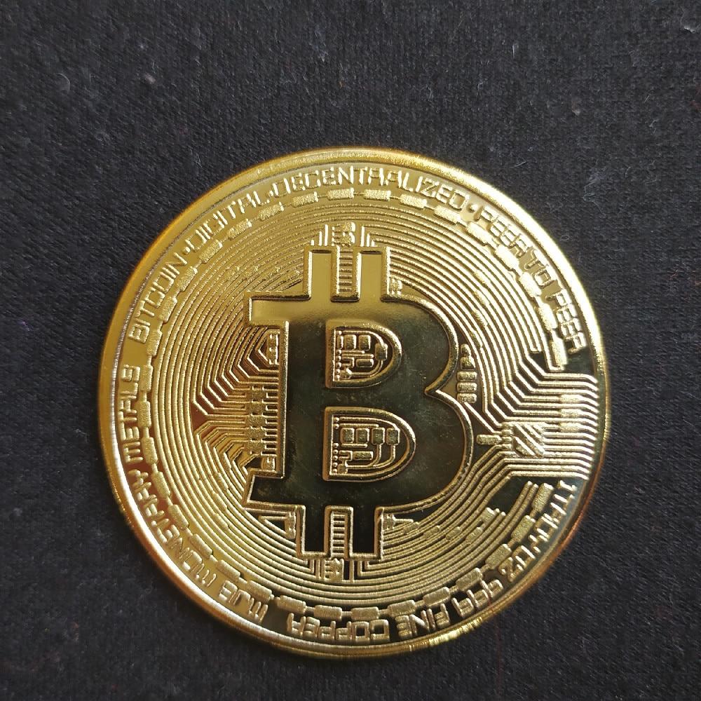 Creative Souvenir Gold Plated Bitcoin Coin Collectible Great Gift Bit Coin Art Collection Physical Gold Commemorative Coin