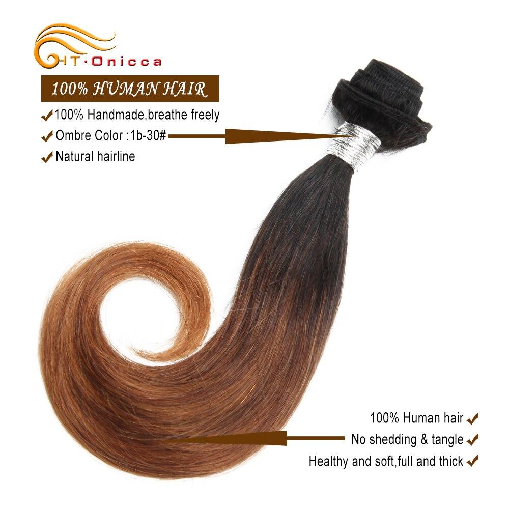 Htonicca extensão de cabelo curto encaracolado, pacotes