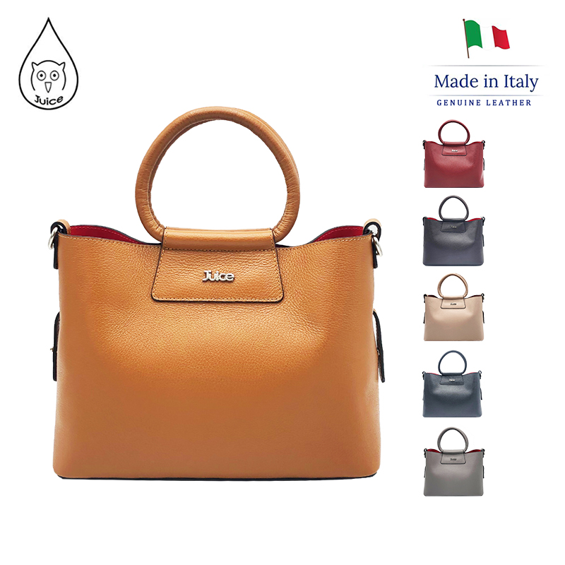 JUICE , Made In Italy, Genuine Leather,Lady's Handbag, Messenger Bag, 112216