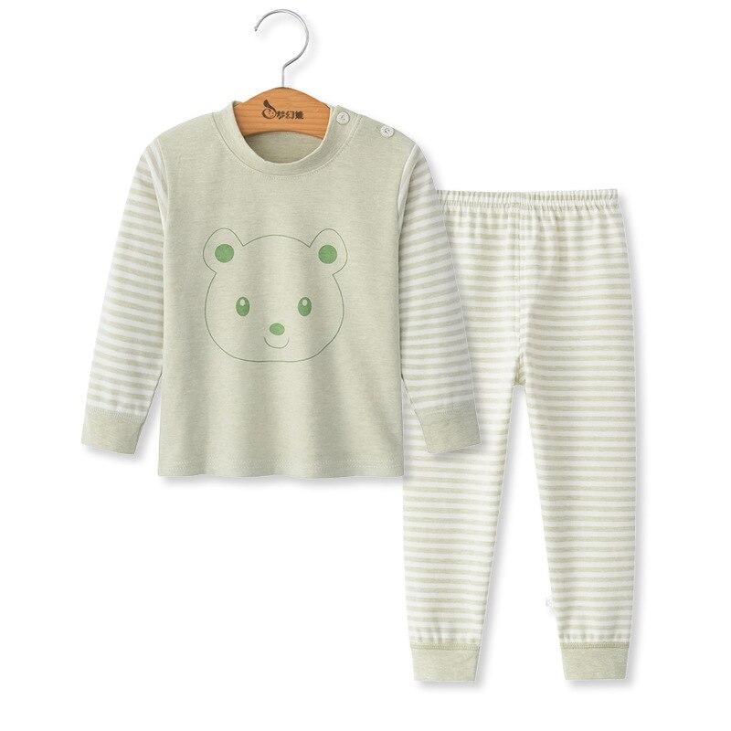 SAILEROAD Children Cartoon Animals Pajamas Set Baby Boys Cute Elephant Pyjamas Girls Love Heart Pijama Kids Home Wear Cotton PJS 7