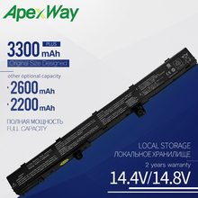 Apexway A31N1319 Laptop Battery for ASUS X451 X451C X451CA X551 X551C X551CA X551M X551MA A31LJ91 A41N1308 4 Cells lapetus accessories for toyota camry 2018 2019 matte carbon fiber abs front head light switches button molding cover kit trim