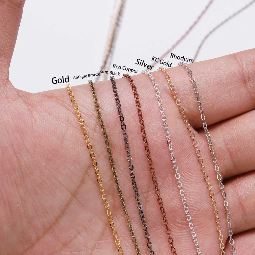 5 m/lot Gold/Bronze Plated Necklace Chain For Jewelry Making Findings DIY Necklace Chains Materials Handmade Supplies 6