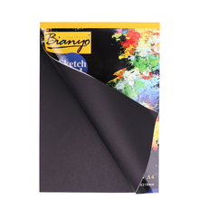A4/A5 Black Sketch Book Diary for Drawing Painting Graffiti Soft Cover Paper Notebook Office School Supplies Gift