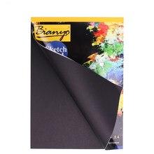 Caderno de esboço preto a4/a5, livro, para desenho, pintura, grafite, capa macia, papel preto, escola, escritório presentes de materiais
