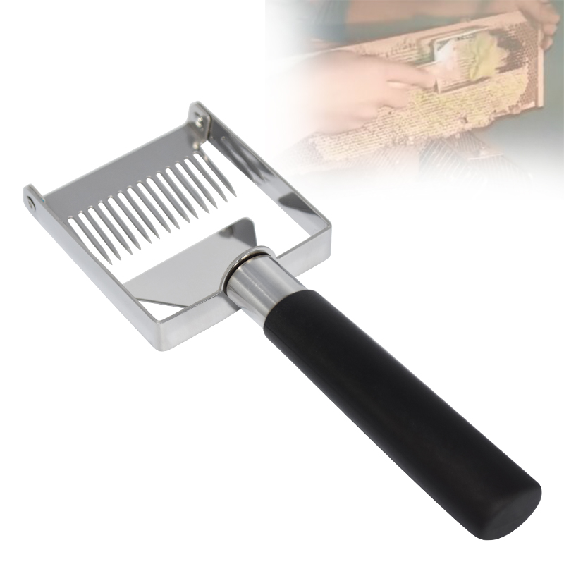 Beekeeping Tools Honey Cutter Uncapping Scraper Bee Hive Honeycomb Scraper Equipment Plastic Handle Uncapping Fork Shovel Knife