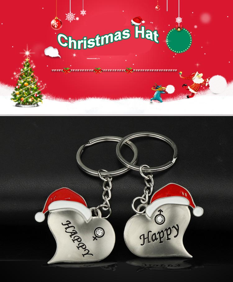 1 Pair Christmas Couple Key Chains  (2)
