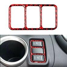 1 pçs brandnew red fibra de carbono assento botão de aquecimento capa guarnição para nissan 370z z34 2009 2020 acessórios interiores