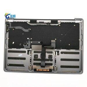 """Image 2 - 오리지널 13.3 """"A1708 Topcase Space 그레이 실버 미국 키보드 트랙 패드 백라이트 Macbook Pro 용 Retina A1708 탑 케이스 커버"""