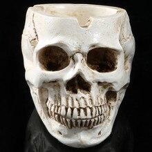 Cenicero de resina de Cenicero con cabeza de esqueleto, cabezal de simulación, modelo de Halloween, divertido, decoración de Halloween L * 5, 1 ud.