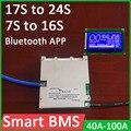 Защитная Плата Smart BMS 7S ~ 16S 17S ~ 24S для литиевой батареи, 72 в, li-ion 60 в, Lifepo4, 50A, 100A, 8S, 13S, 14S, 20S, ЖК, Bluetooth APP