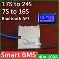 Смарт BMS 7S до 16S 17S до 24S литиевая батарея Защитная плата 72V li-ion 60V Lifepo4 50A 100A 8S 13S 14S 20S LCD Bluetooth APP