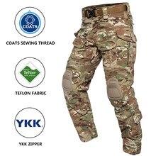 Antártica g3 calças de combate com joelheiras airsoft calças táticas multicam cp gen3 caça camuflagem paintball roupas engrenagem
