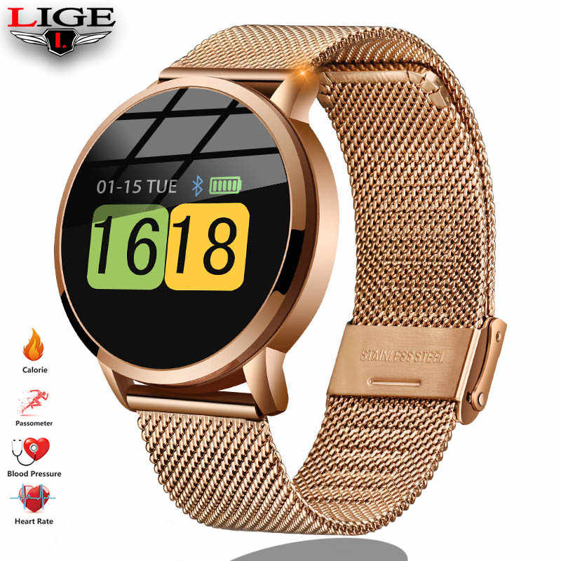 LIGE new smart watch men's and women's heart rate monitor blood pressure fitness tracker smart Bracelet sports watch ios android