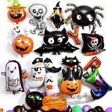 1 шт. украшения для Хеллоуина, тыква шарики ведьма паук Хэллоуин вечерние поставки на день рождения для детей игрушки день всех святых вечер...