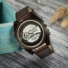 Shifenmei Men Watches 2019 Wooden Watch Men Luxury Brand Quartz Leather Strap Sports Military Wristwatch Alarm Wood Watch Male стоимость