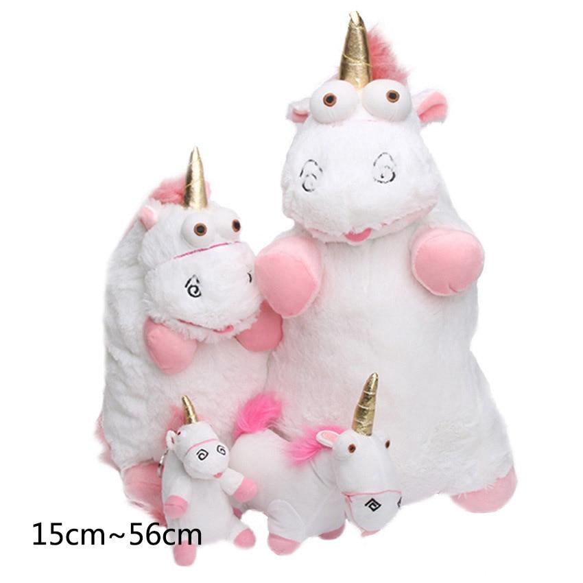 56cm 40cm 18cm 15cm Fluffy Unicorn Plush Toy Soft Stuffed Animal Unicorn Plush Dolls Peluche Doll Kids Children Christmas Gift