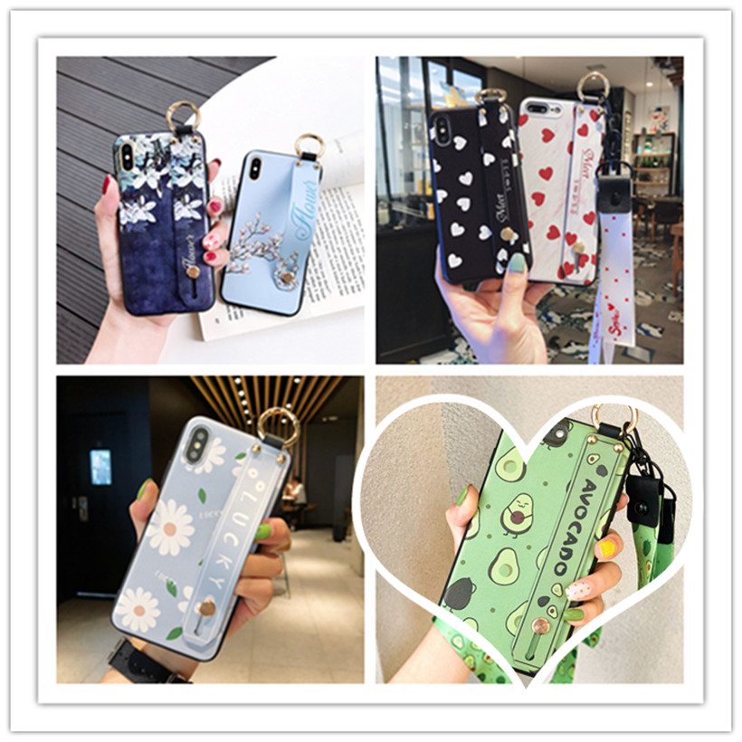 Holder Stand Lanyard Case For Xiaomi CC9 CC9E Mi 6X 5X A3 Lite A2 A1 9 8 SE Redmi 6 Note 7 5 Pro S2 Wrist Strap Covers