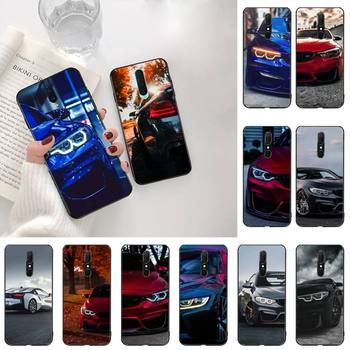 HPCHCJHM Blue Red Car for Bmw DIY Painted Bling Phone Case For Oppo A5 A9 2020 Reno2 z Renoace 3pro Realme5Pro image
