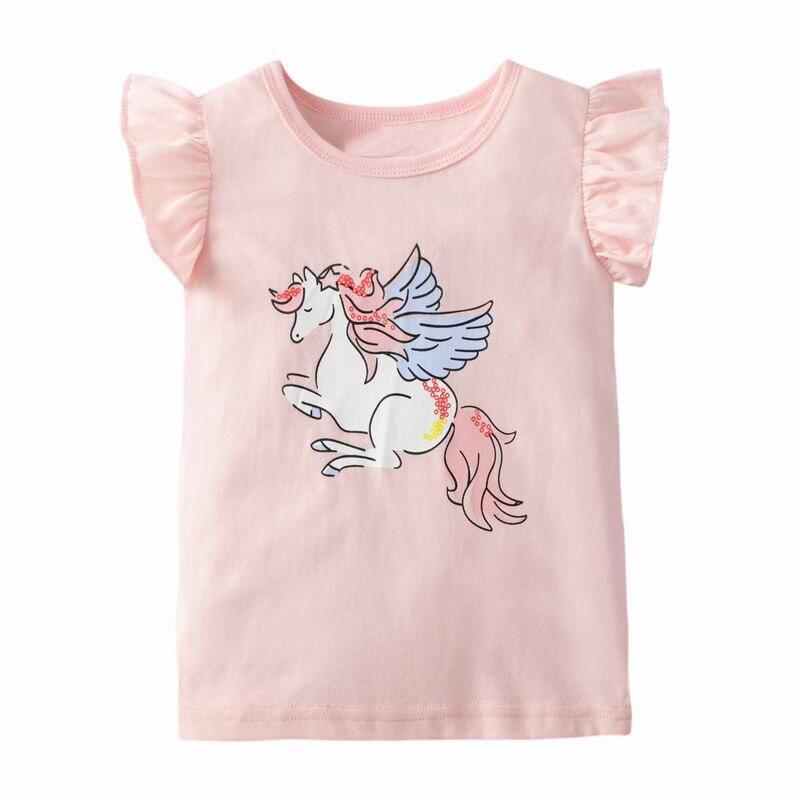 Camisetas de unicornio para niñas pequeñas, novedad de verano, ropa para niños, camisetas para bebés, ropa para niños Cortina de unicornio rosa para habitación de Chico, estampado de unicornio de dibujos animados, tul para habitación de niña, estampado de arco iris, cortinas de tul para niño M173 # NT