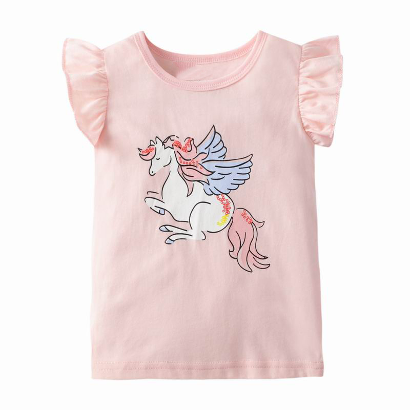 Little Maven Girls Unicorn T Shirts Summer New Children 's Clothing Baby Kids Tops Tees Clothes Toddler Garments