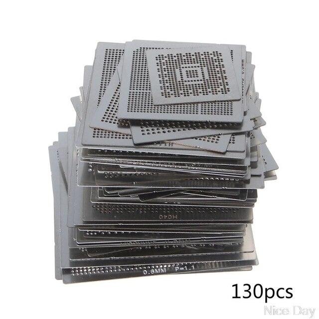 27/33/36/130 adet BGA şablonlar evrensel doğrudan ısıtmalı şablonlar SMT SMD Chip tamir Au11 dropship