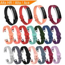 Sport Silicone Strap for Fitbit Alta Hr Band Smart Watch Adjustable Bracelet Replacment Wristband