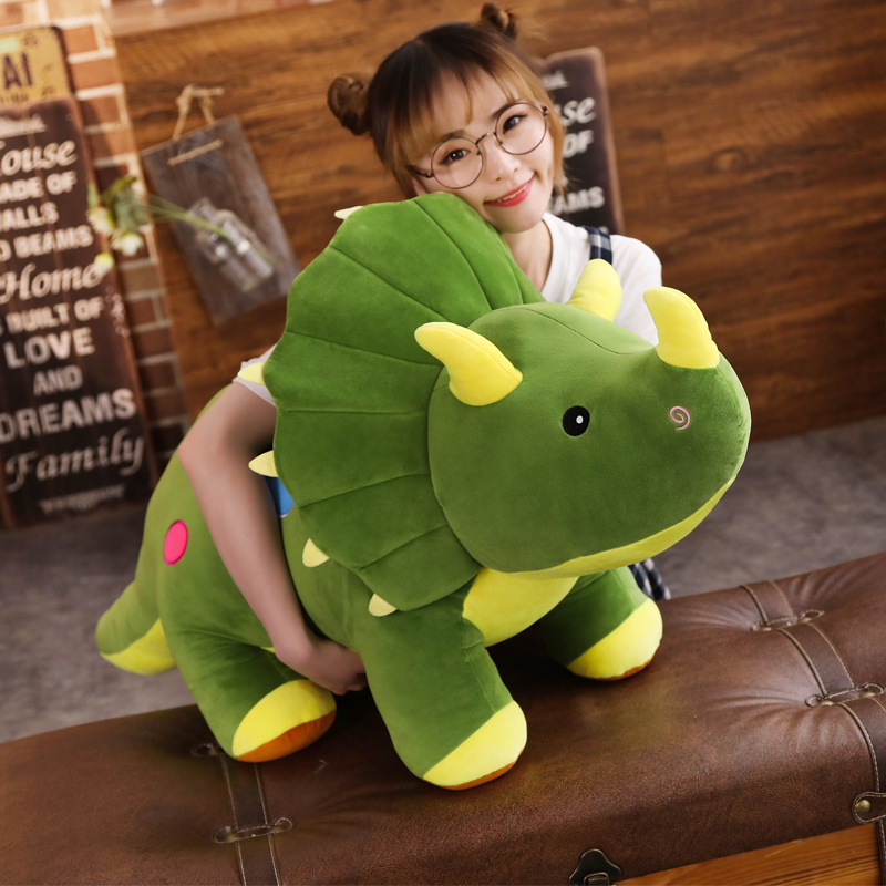 40-100cm Creative Big Plush Soft Triceratops Stegosaurus Plush Toy Dinosaur Doll Stuffed Toy Kids Dinosaurs Toy Birthday Gifts