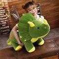 40-100 см креативная большая плюшевая мягкая Трицератопс, стегозавр, плюшевая игрушка, динозавр, кукла, мягкая игрушка для детей, детские подар...